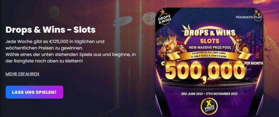 Winny Casino Drops & Wins