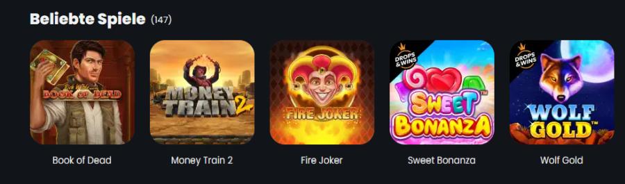 Winny Casino Spielangebot